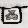 Black & White Lattice Teddy Personalised Cosy Toes